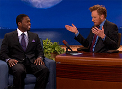 50 Cent and Conan O'Brien