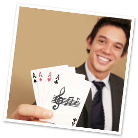 Music + Cards: a winning casino strategy