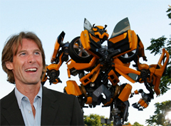 Michael Bay and a Transformer