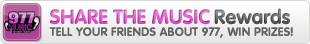 Share the Music Rewards from 977 Internet Radio